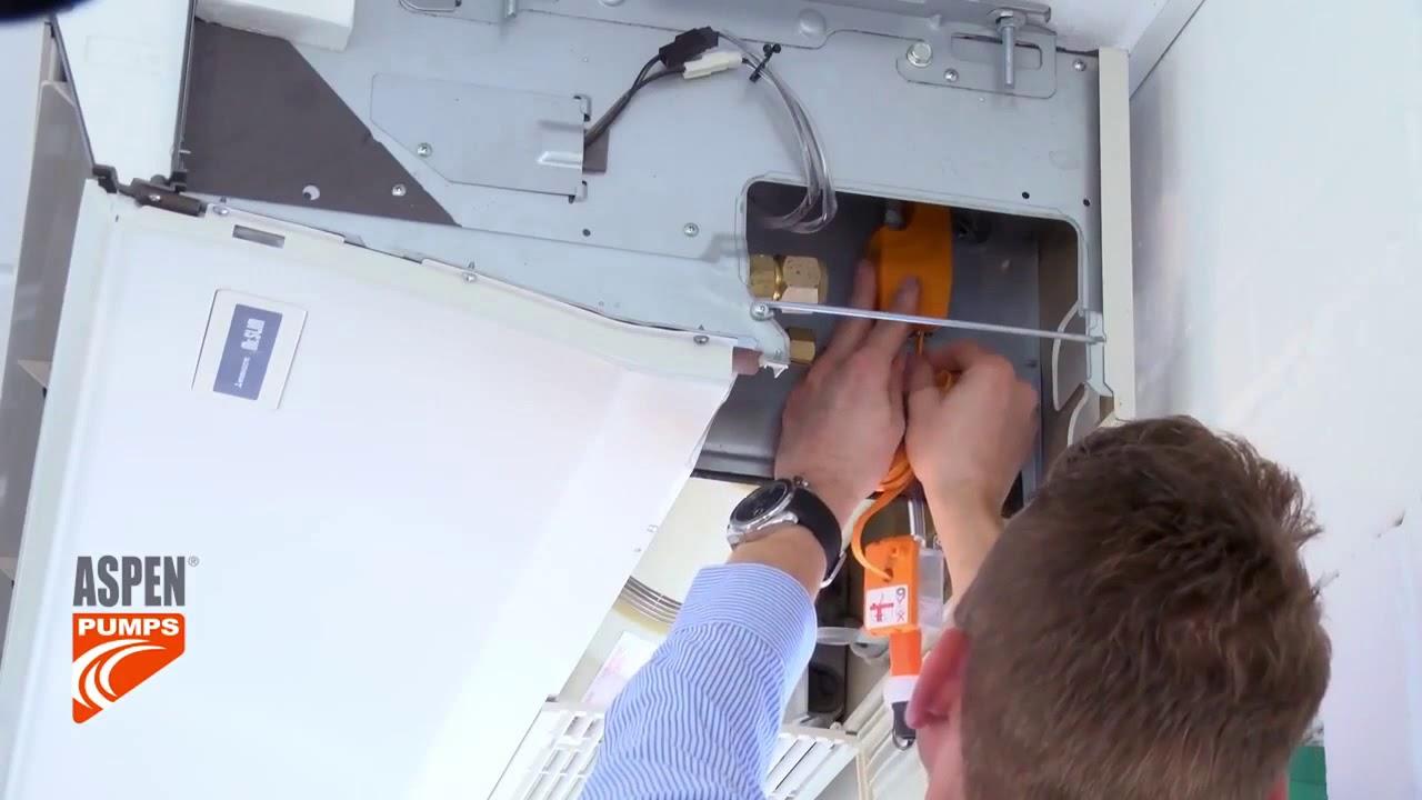 установка дренажной помпы